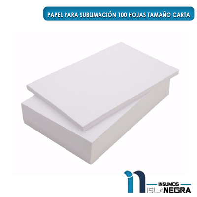 PAPEL DE SUBLIMACION CARTA 120GR (100U)