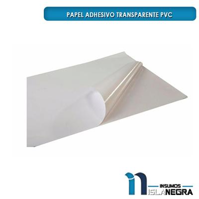 PAPEL ADHESIVO TRANSPARENTE PVC