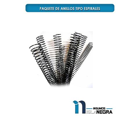 PAQUETE DE ANILLOS TIPO ESPIRALES