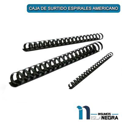 CAJA DE SURTIDO ESPIRALES AMERICANO NEGROS