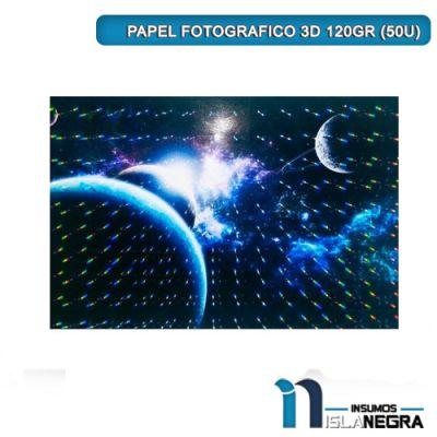 PAPEL FOTOGRAFICO 3D 120GR (50U)