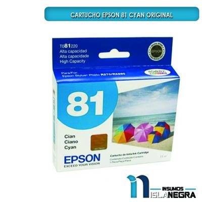 CARTUCHO EPSON 81 CYAN ORIGINAL