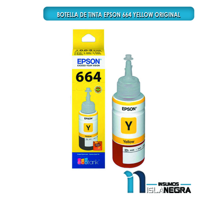 BOTELLA DE TINTA EPSON 664 YELLOW ORIGINAL