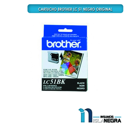 CARTUCHO BROTHER 51 NEGRO ORIGINAL