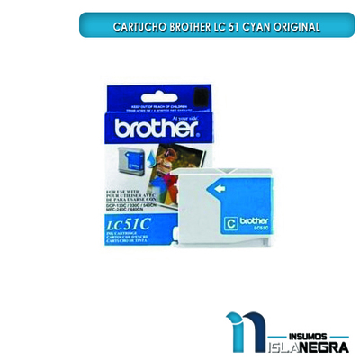 CARTUCHO BROTHER 51 CYAN ORIGINAL