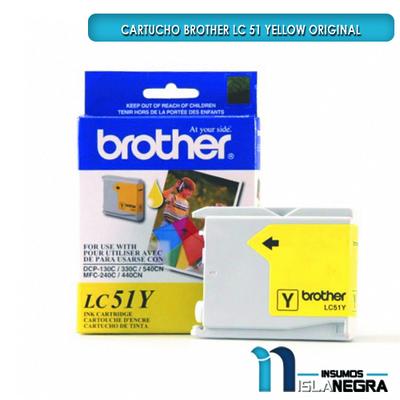 CARTUCHO BROTHER 51 YELLOW ORIGINAL