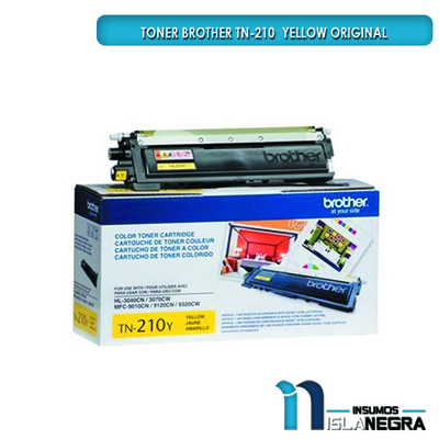 TONER BROTHER 210 YELLOW ORIGINAL
