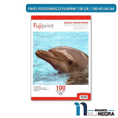 PAPEL FOTOGRAFICO GLOSSY 120gr. (100u) PGLA4120