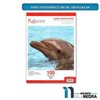 PAPEL FOTOGRAFICO GLOSSY 180gr. (100u)