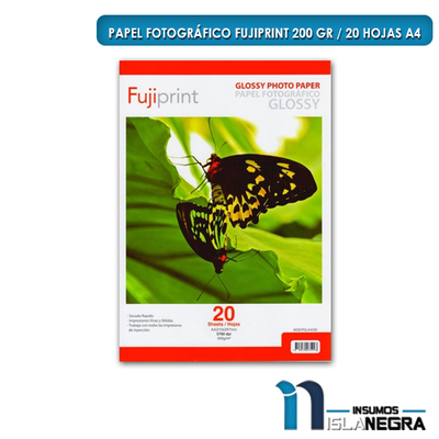 PAPEL FOTOGRAFICO GLOSSY 200GR. (20U) PGLA4200
