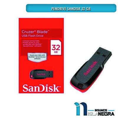 PENDRIVE SANDISK 32GB NEGRO