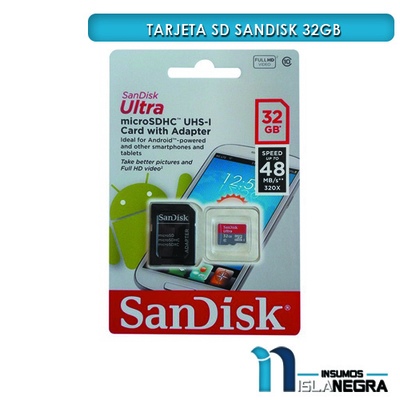 MEMORIA SD SANDISK 32GB CLASE 10