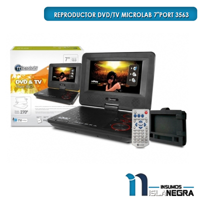 Reproductor portable DVD&TV MLAB 3563