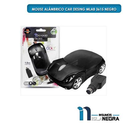 MOUSE ALAMBRICO CAR DESING MLAB 3615 NEGRO