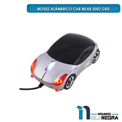MOUSE ALAMBRICO CAR DESING MLAB 3002 GRIS