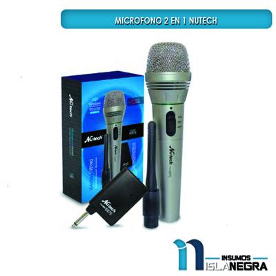 MICROFONO ALAMBRICO/INALAMBRICO NUTECH 6975