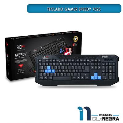 TECLADO GAMER ALAMBRICO SPEEDY 3DFX