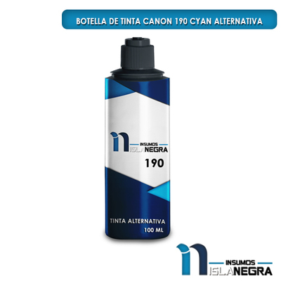 BOTELLA DE TINTA CANON 190 CYAN ALTERNATIVA