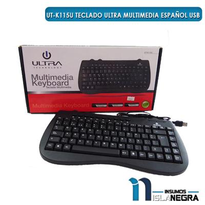 TECLADO ALAMBRICO ULTRA UT-K115U