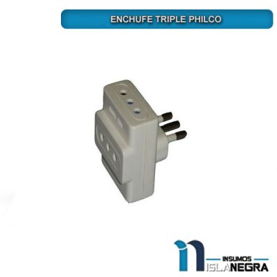 ENCHUFE TRIPLE PHILCO