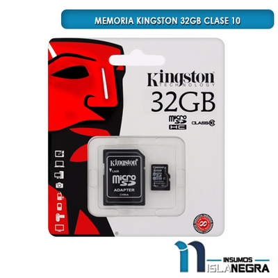 MEMORIA KINGSTON 32GB CLASE 10