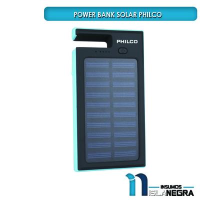 79PBK07021 POWER BANK CARGADOR PORTATIL SOLAR 7KmAh PHILCO