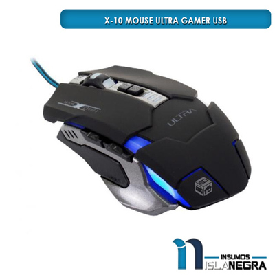 MOUSE ALAMBRICO GAMER ULTRA X10 29UTX-00X10