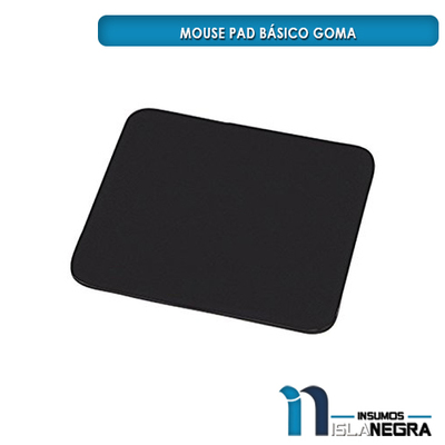 MOUSE PAD NEGRO GOMA