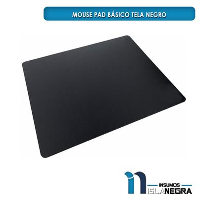 MOUSE PAD BASICO TELA NEGRO
