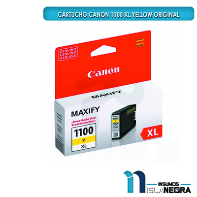CARTUCHO CANON 1100 XL AMARILLO ORIGINAL