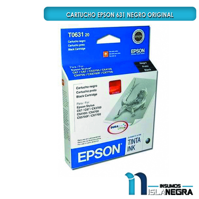 CARTUCHO EPSON 631 NEGRO ORIGINAL