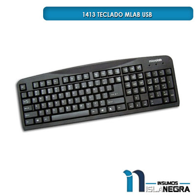 TECLADO ALAMBRICO MLAB 1413