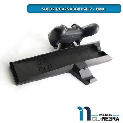 SOPORTE Y CARGADOR DOBLE PS4 USB 3.0