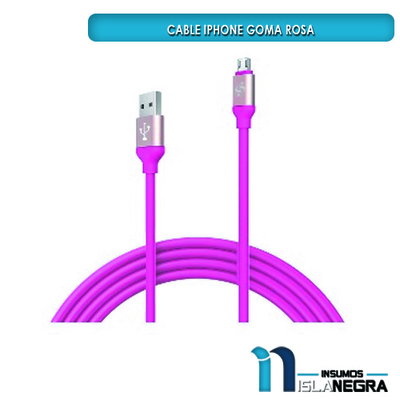 CABLE IPHONE GOMA