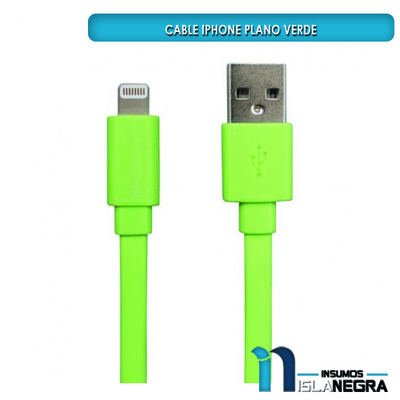 CABLE USB IPHONE PLANO