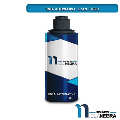 BOTELLA DE TINTA DE LITRO CYAN ALTERNATIVA