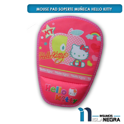MOUSE PAD CON SOPORTE HELLO KITTY
