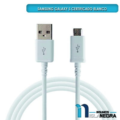 CABLE USB GALAXY S CERTIFICADO
