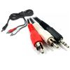 CABLE STEREO PLUG 3,5MM A 2 RCA JACK