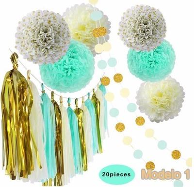 Decorativa Bola Guirnalda Adorno Para Fiesta Varios Color (20 piezas)