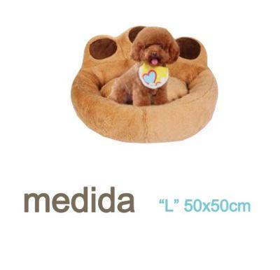 Cama Cojin Diseño Pata Cafe mascota perro Talla L
