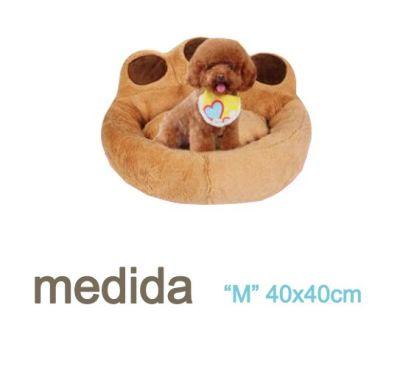 Cama Cojin Diseño Pata Cafe mascota perro Talla M