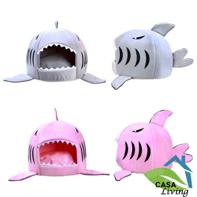 Cama Cojin Diseño Tiburon Para Mascota