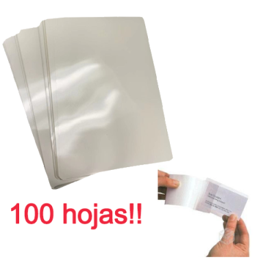 Micas Lamina tamaño doble carnet termolaminadora plastificadora