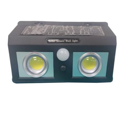 Lampara led solar 2 focos frontales 2 focos laterales