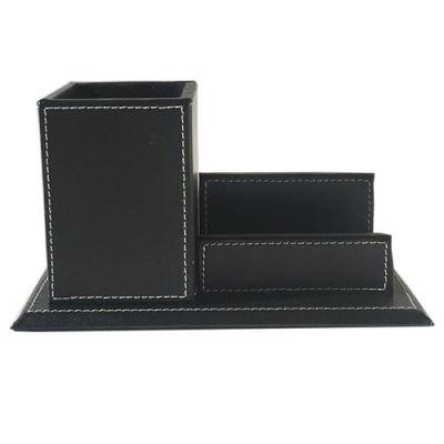 Porta lápiz y tarjeta presentación ecocuero