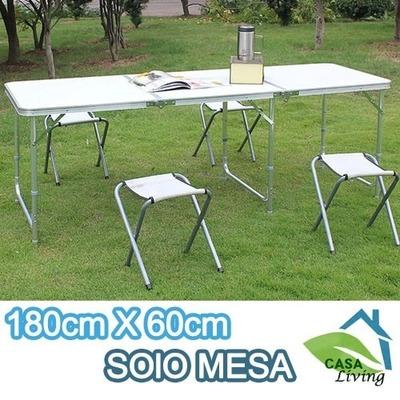 Mesa de camping 180 x60cm