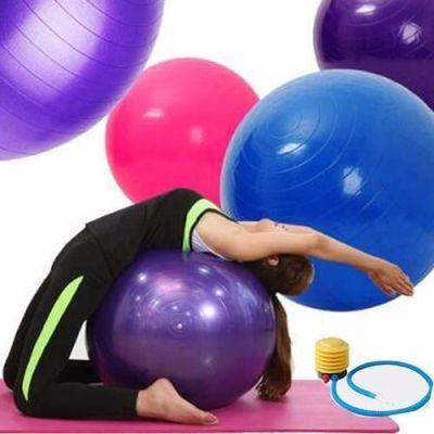 Pelota Balon 75 Cm + Inflador Yoga Pilates