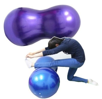 Pelota Ovalada Pilates Mani 50x100cm Yoga Kinesiologia