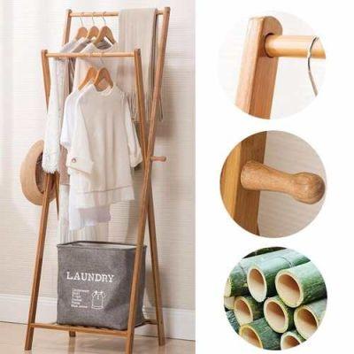 Perchero Colgador Madera Bambu 52cm